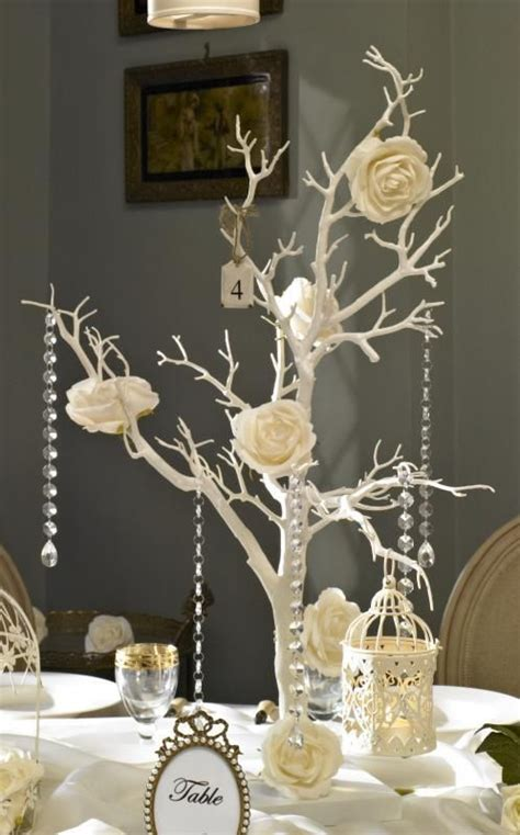 this tree makes a lovely centerpiece for a shabby chic