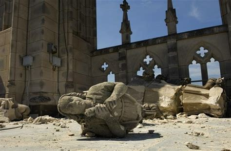 Buildings Damaged In Virginia Earthquake