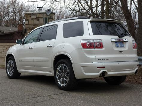 review  gmc acadia denali  truth  cars