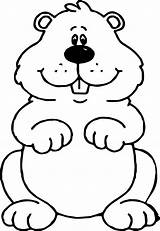 Groundhog Ground Hog Coloring Pages Valentine Colouring Drawing Sheets Printables Books Activities Wecoloringpage Getdrawings Nova sketch template