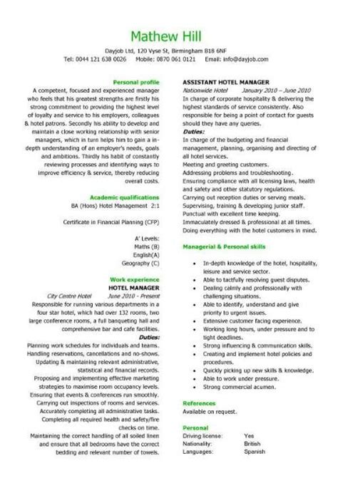Help With Creating A Resume For Free by Hospitality Cv Templates Hotel Receptionist Corporate