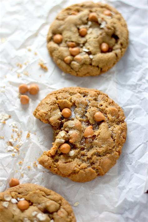 oatmeal butterscotch cookies chewy butterscotch oatmeal cookies baker by nature