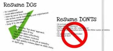 resume do s don ts career success resume