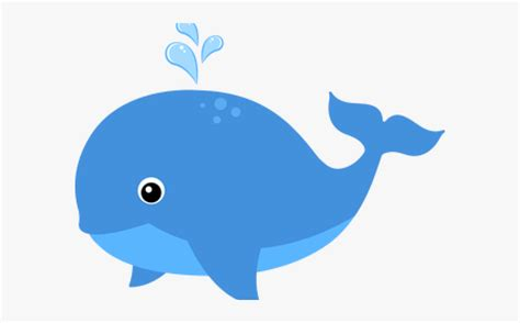 Blue Whale Clipart Color Blue - Cute Ocean Animal Clipart ...