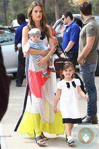 Alessandra Ambrosio with kids Anja and Noah Mazur at the ...