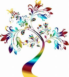 Clipart - Colorful Floral Tree 3