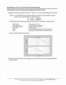 Hw 3 Reference  How To Use Matlab To Draw Bode Diagrams