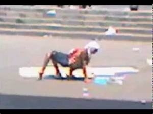 Human/Hybrid creature walking through streets - YouTube