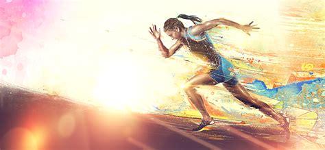 Animated Running Wallpaper - run it goddess poster banner background run movement