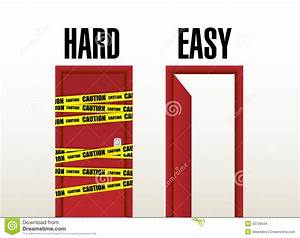 Hard And Easy Doors. Illustration Design Stock Images ...