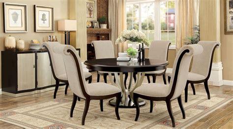 Ornette Espresso Round Dining Room Set, Cm3353rt