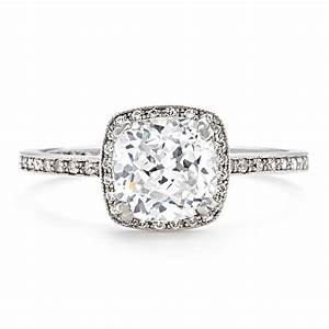 engagement rings glamor thin band engagement ring design With wedding ring square