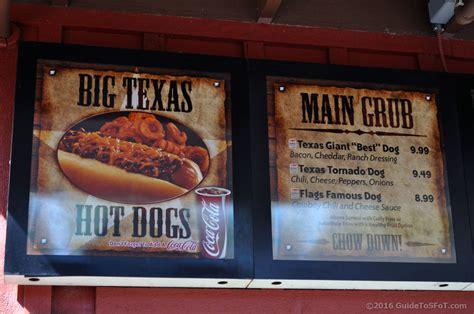 bubbas texas giant hot dogs guide   flags  texas