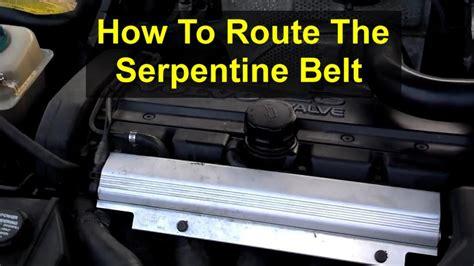serpentine belt routing   volvo