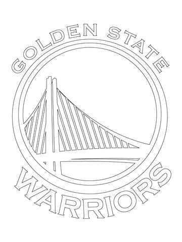 golden state warriors logo coloring page  printable
