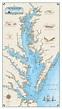 Original Chesapeake Bay Chart (Paper) - Nautical Art Print ...