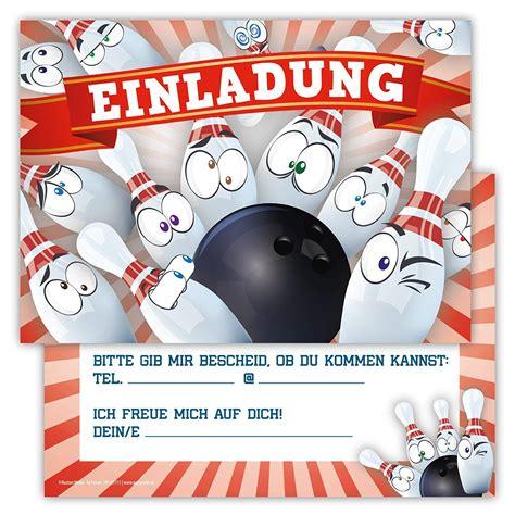 bowling invitation card geburtstagseinladungen zum