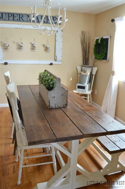 modern farmhouse dining room makeover  vintage nest