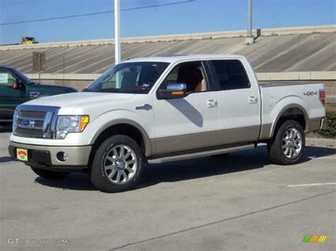 ford truck white 2009 oxford white ford f150 king ranch supercrew 4x4