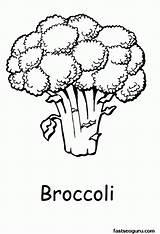 Coloring Vegetable Broccoli Vegetables Printable Frukt Printabel Efter Nummer Mala Malarbilder Malarbild Fruits Dibujos Colorear Popular Related Brocolli Coloringhome 2975 sketch template