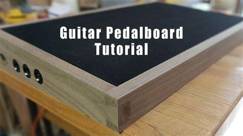 diy walnut pedalboard tutorial video youtube