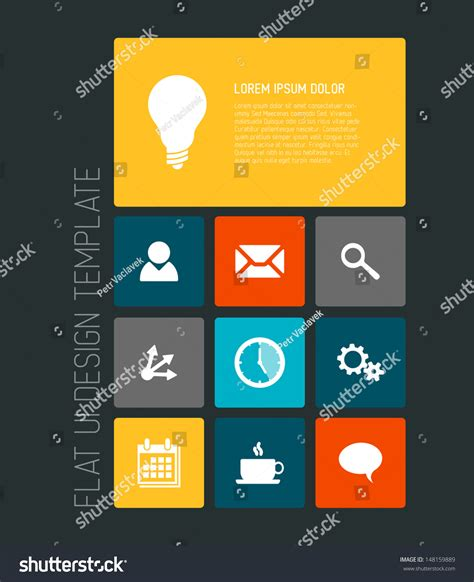 the state of the modern smartphone user interface tested modern smartphone flat user interface ui template stock