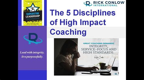 disciplines  high impact coaching leadership