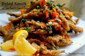 Fried Smelt with Thai Basil and Sweet Peppers - Recipes