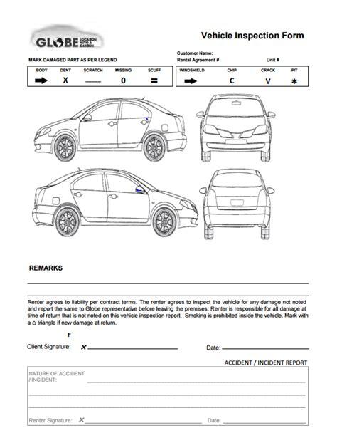 Vehicle Accident Report Diagram Form