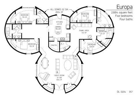 floor plans bedrooms monolithic dome institute