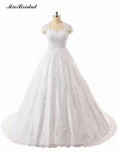 micbridal 2016 lace vintage wedding ball gown beaded long With vintage beaded wedding dress