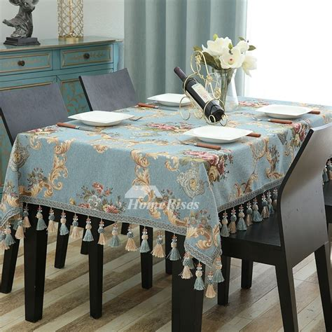 fabric tablecloths bluecoffeered polyester
