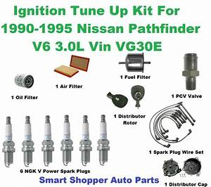 Ignition Tune Up 4 Pathfinder Spark Plug  Wire Set  Air