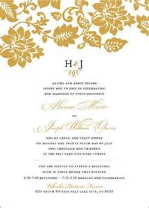 lds wedding invitation wording pin by utah announcements on lds wedding invitations
