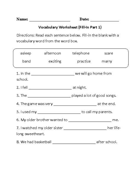 fill in vocabulary worksheet part 1 beginner englishlinx board pinterest vocabulary