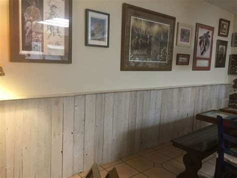 Wainscot  Whitewash   Dining Area  Pallet
