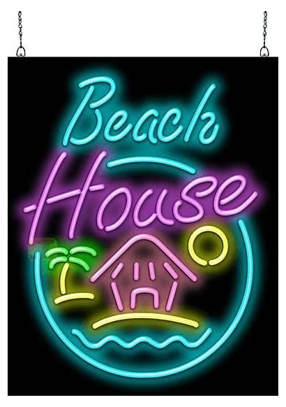 Neon Beach Sign Hs Graphics