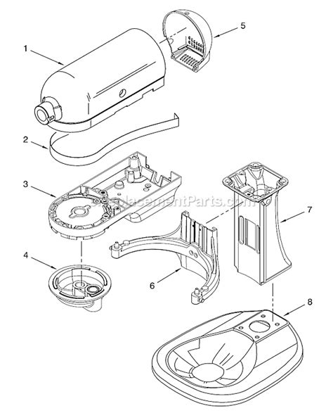 Kitchenaid Mixer Electrical Smell by Kitchenaid Ksm500psob0 Parts List And Diagram