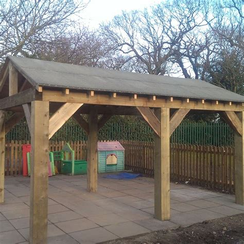 wooden garden shelter structure gazebo hot tub car