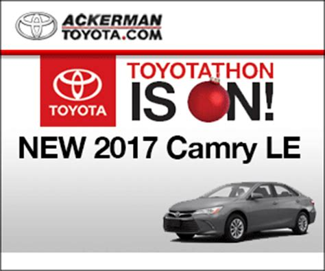 Ackerman Toyota by St Louis Ackerman Toyota 2017 Camry Le Specials