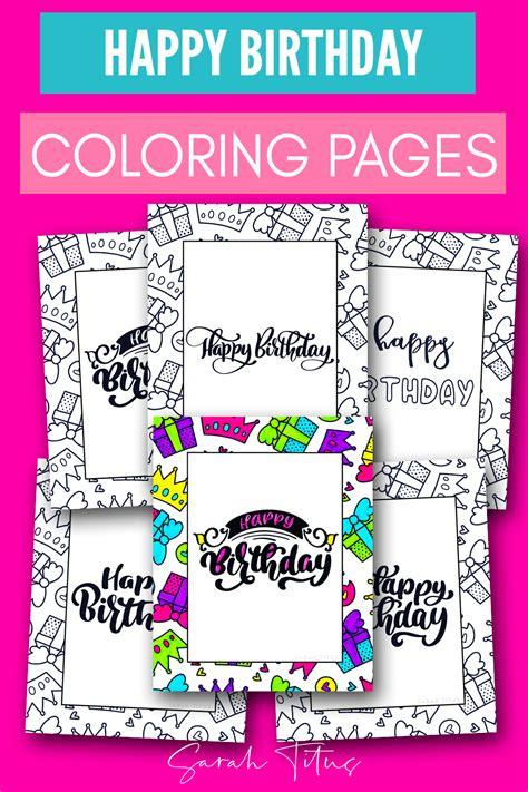 printable happy birthday coloring sheets