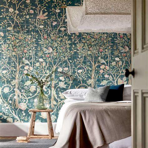 melsetter  morris indigo rose mural wallpaper direct