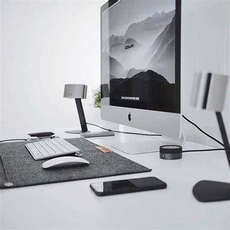 apple imac computer desk ultralinx minimalsetups gaming desks pinterest