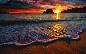 Beach, Sea, Landscape, Nature, Sunset, Wallpapers, Hd
