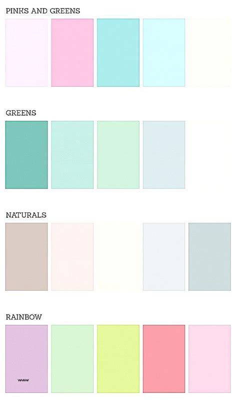 Pastel Color Palette Great Pastel Wedding Color Schemes