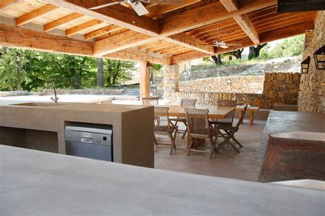 cuisine exterieur cuisine d 39 extérieur en béton ciré