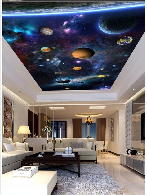 high quality custom  ceiling wallpaper murals dazzle