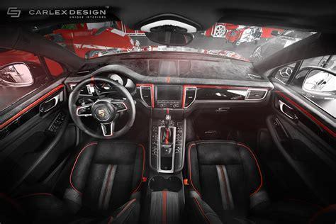 porsche macan red interior porsche macan gets a berserk red and black interior