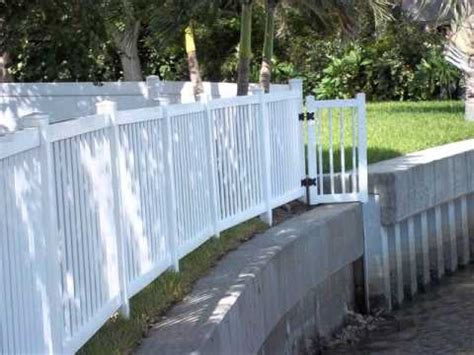 cost  linear foot  install vinyl fencing youtube