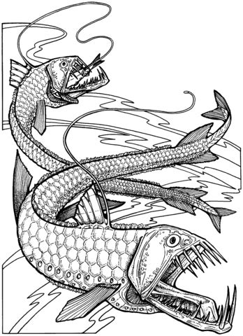 viper fishes coloring page supercoloringcom